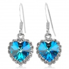 Regent 170002 Crystal Earrings for Women - Blue + Transparent + Multi-Colored (Pair)