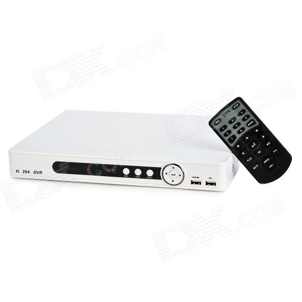 H.264 PAL CIF 8-channel DVR - White (US Plug)