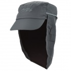 OUTFLY Outdoor Polyester Sunproof Cap w/ Collapsible Neck Cover for Men - Grey
