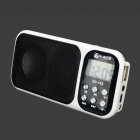 "Salut-riz SD-102 Mini Portable 1,2 ""Screen Media Player Speaker w / FM / TF - blanc + noir"