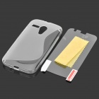 Simple S Pattern TPU Back Case w/ Clear Screen Guard for Motorola MOTO G / MOTO DVX / XT1031 /XT1032