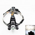 KINFIRE K-30 3-LED 2100lm 4-Mode White Headlamp - Black (2 x 18650)