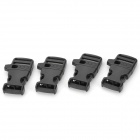 ABS Paracord Buckle w/ Built-in Whistle - Black (4 PCS)