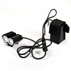 Marsing B22 2-LED 4-Mode White Bike Light / Headlamp - Black (4*18650)