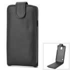 Protective Top Flip Open PU Leather Case w/ Card Slot for Samsung Galaxy S5 - Black