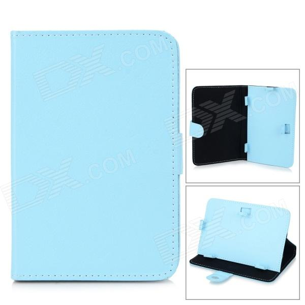 Фото Universal Protective PU Leather Case Cover Stand for 7 Tablet PC - Light Blue case for ipad 9 7 inch new 2017 pattern list protective shell smart cover leather pu tablet pc ipad9 7 protector cases