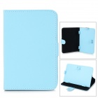 "Universal Protective PU Leather Case Cover Stand for 7"" Tablet PC - Light Blue"