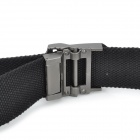 SW41260 Casual Canvas Waist Belt for Men - Black + Silver