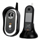 "DW999 2.4GHz Wireless Digital 2.5"" LCD Visible Doorbell Set w/ IR Night Vision - Black"