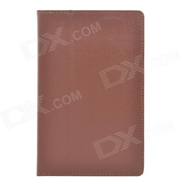 Hand Support Protective PU Leather Case w/ Auto Sleep Cover for Kobo Arc 7 HD - Brown