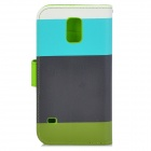 High Quality Stylish Flip Open PU Leather Case w/ Stand / Card Slots / Strap for Samusng Galaxy S5