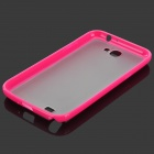 Protective TPU Matte Back Case for Samsung N7100 - Deep Pink + Transparent