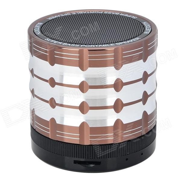 K1 Portable Bluetooth V2.1 Speaker w/ Handsfree Call + Microphone + FM - Brown + Black (32G Max.)