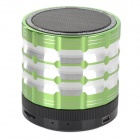 K1 Portable 3W Bluetooth V2.1 Speaker w/ Mic / Mini USB / TF / FM - Green + Black + Multicolored
