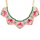 SHIYING a03103 Decoration Collar Necklace for Women - Green + Red + Multi-Colored