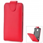 Protective Top Flip Open Case w/ Card Slot for Samsung Galaxy S5 - Red