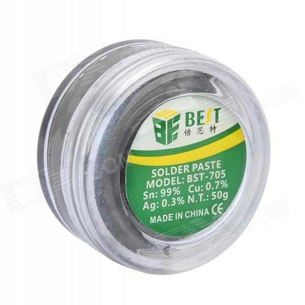 BEST BST-705 Lead-free Soldering Paste - BlueSoldering Supplies<br>Form  ColorBluePowerOthersBrandBESTModelBST-705Quantity1 DX.PCM.Model.AttributeModel.UnitMaterialSn:99% Cu:0.7% Ag:0.3%Other FeaturesN.T.:50gPacking List1 x Soldering paste<br>