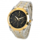 laogeshi 227-1 Water Resistant Quartz Analog Watch for Men - Golden + Black (1 x 626)