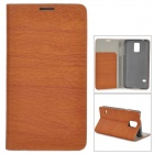 Protective PU Flip Open Case w/ Stand / Card Slots for Samsung Galaxy S5 - Brown
