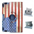 American Flag Pattern 360 Degrees Rotation PU Leather Case Cover Stand for Amazon Kindle Fire HD 8.9