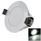 Unilumin HTD765 3W 240lm 6500K 6-5630 SMD LED White Ceiling Lamp / Downlight - Silver (AC 220~240V)