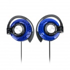 GENIPU GP-Q170 3.5mm Jack Wired Earhook Bass Headset for Cellphone / MP3 - Blueish Green + Black