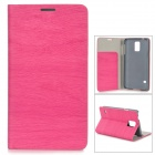 Protective PU Flip Open Case w/ Stand / Card Slots for Samsung Galaxy S5 - Deep Pink