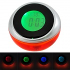 356 Digital Clock w/ Temperature Display + Voice Announcements + RGB LED Light - Orange (3 x AAA)