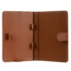 "Universal Protective PU Leather Case Cover Stand for 7"" Tablet PC - Coffee"