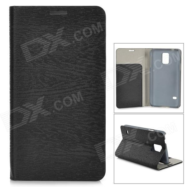 Protective PU Flip Open Case w/ Stand / Card Slots for Samsung Galaxy S5 - Black аксессуар чехол sony xperia xa ultra ibox crystal grey