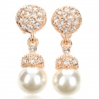 Italian Pearl Earrings for Women - White + Golden + Multi-Colored (Pair)