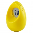 308 Fun Egg Tumbler Style Digital Timer Clock - Yellow + Translucent (1 x CR2025)