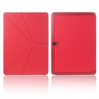 ENKAY Multi-folding Protective PU Leather Case for Samsung Galaxy Note 10.1 2014 Edition - Red