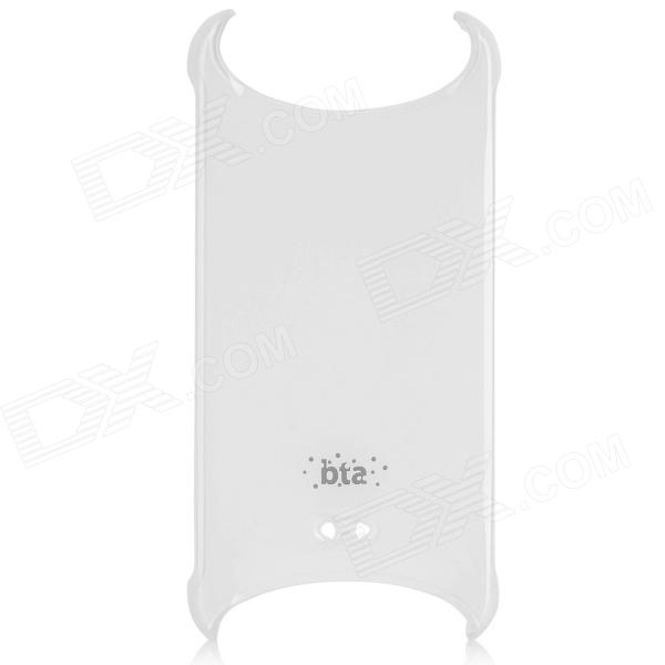 BTA Stylish PC Back Case w/ Strap Hole for IPHONE 5 / 5S - White ipsky cool style detachable back case for iphone 5 5s white reddish brown