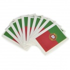 Portuguese Flag Style Body Paper Stickers - Green + Red (10 PCS)