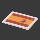Spanish Flag Style Body Paper Stickers - Red + Yellow (10 PCS)
