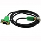 USB 2.0 to RS232 Serial Cable - Black + Green (180cm)