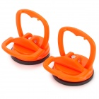 Plastic Surface Suction Cup Set - Orange + Black (2 PCS)