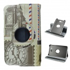 Clock Tower Pattern 360 Degree Rotation PU Leather Case Stand for Samsung Galaxy Tab 3 Lite T110/111