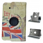 London Style 360  Rotation PU Leather Case Stand for Samsung Galaxy Tab3 Lite T110/111