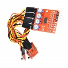LSON 4-CH Infrared Tracking Detection Sensor Module - White + Black + Red + Yellow