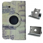Leaning Tower  360 Degree Rotation PU Leather Case Stand for Samsung Galaxy Tab 3 Lite T110/111