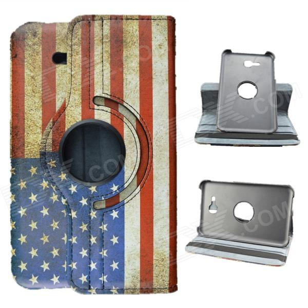 US National Flag Style 360 Rotation PU Leather Case for Samsung Galaxy Tab 3 Lite T110/T111 цена