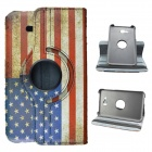 US National Flag Style 360 Rotation PU Leather Case for Samsung Galaxy Tab 3 Lite T110/T111