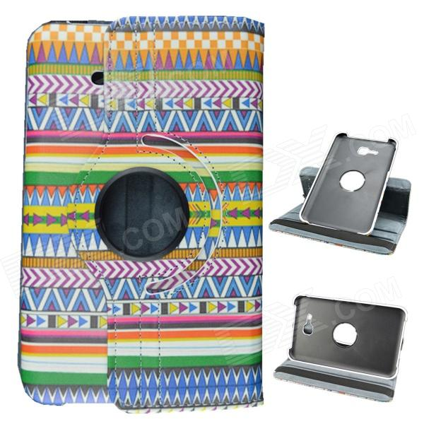 Tribal Lines 360 Degree Rotation PU Leather Case Stand for Samsung Galaxy Tab 3 Lite T110/T111