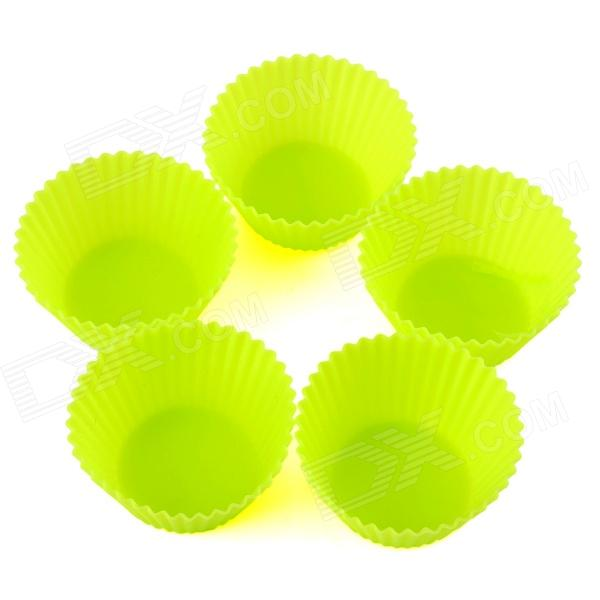 Durable Safe 7cm Silicone Cake Mould - Green (5 PCS) 95% new good working for motherboard 5k53d 300557612 gr5k 1h grj5k a2 computer board control board on sale