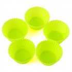 Durable Safe 7cm Silicone Cake Mould - Green (5 PCS)