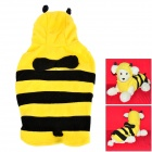 JUQI Bee Style Fleeces Clothes for Pet Dog / Cat - Black + Yellow (XL)