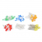 WLXY WL-385 3mm Color Light-emitting Diode Set - White + Red + Blue + Yellow + Orange + Green