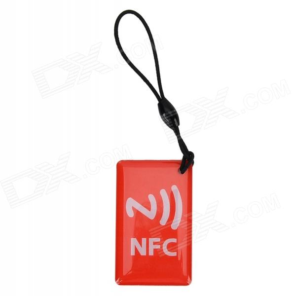 030902 NFC Erasable Smart Labels Epoxy Pendant - Red
